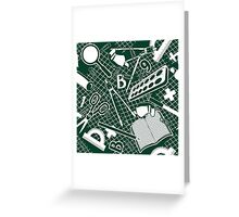 Education background.  Greeting Card