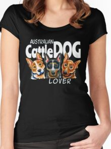 Australian Cattle Dog Lover (Dark) Women's Fitted Scoop T-Shirt