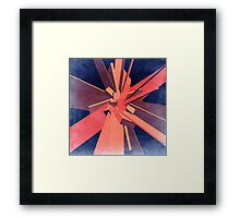 Vintage Orange Rectangles Framed Print