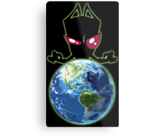 Invader from Planet Irk Metal Print