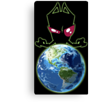 Invader from Planet Irk Canvas Print