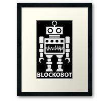 BLOCKOBOT (white) Framed Print