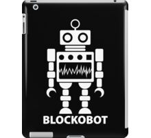 BLOCKOBOT (white) iPad Case/Skin
