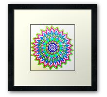 Abstract Color Explosion Framed Print