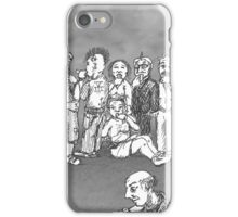 Hold Your Tongue grayscale iPhone Case/Skin