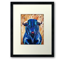 Vincent the Bull Framed Print