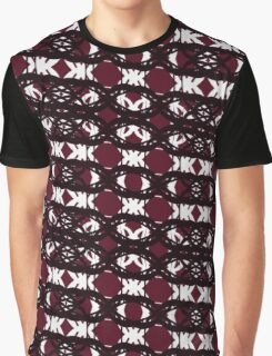 Maroon and White Tangle Two Graphic T-Shirt