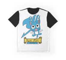 "Fairy Tail: Happy ""Aye Sir"" Graphic T-Shirt"