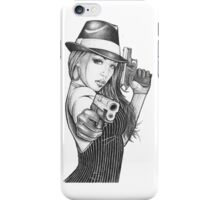 Mobster Chick iPhone Case/Skin