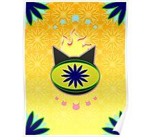 Flaming Feline Eye Poster