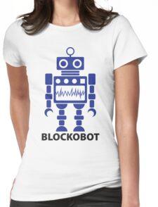 BLOCKOBOT (blue) Womens Fitted T-Shirt