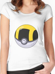 Ultra Ball Pattern Women's Fitted Scoop T-Shirt