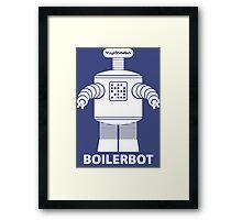 BOILERBOT (white) Framed Print