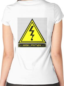 High ∆ Voltage Women's Fitted Scoop T-Shirt
