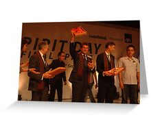 AXA CEO-Henri de Castries receiving gift from AXA indonesia Greeting Card