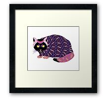 Abstract Cat [BLACK] Framed Print
