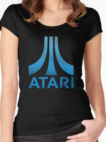 Atari Classic  Blue Vintage  Women's Fitted Scoop T-Shirt