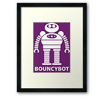 BOUNCYBOT (white) Framed Print