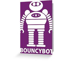 BOUNCYBOT (white) Greeting Card