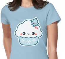 Snowflake Cupcake Womens Fitted T-Shirt