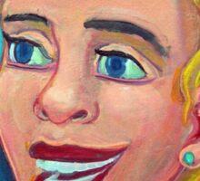Chica en la playa 5  por Diego Manuel Sticker