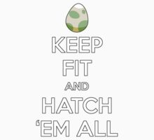 Pokemon Keep Fit and Hatch Em All  Baby Tee