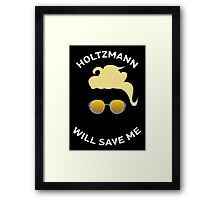 Ghostbusters: Knight in Shining Goggles (White Text) Framed Print