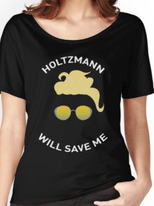 Ghostbusters: Knight in Shining Goggles (White Text) Women's Relaxed Fit T-Shirt