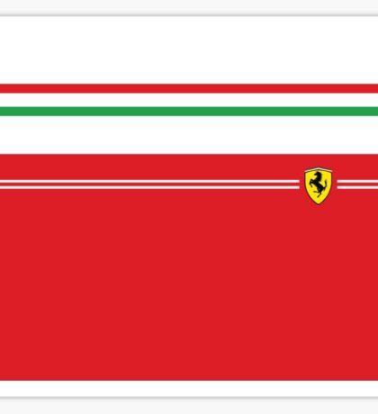 Ferrari Minimalist Italian stripes Sticker