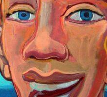 Chico en la playa 3 por Diego Manuel  Sticker