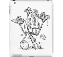 Rooster Dad Hides In Tree From Grotesque Chicken Baby iPad Case/Skin