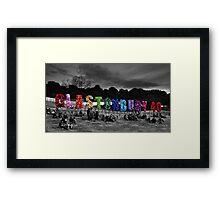 Happy Birthday Glastonbury Framed Print