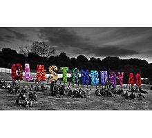 Happy Birthday Glastonbury Photographic Print