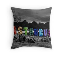 Happy Birthday Glastonbury Throw Pillow