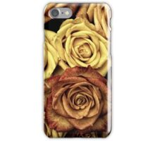 Blooming Roses, Flowers, Petals - Yellow Red iPhone Case/Skin