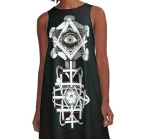 THE EYE OF ATOM SO BE IT A-Line Dress