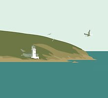 St Anthony's Lighthouse, Falmouth by Tracey Feltham