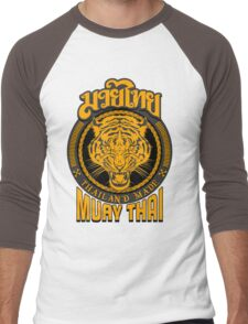 tiger sagat muay thai  thailand martial art logo Men's Baseball ¾ T-Shirt