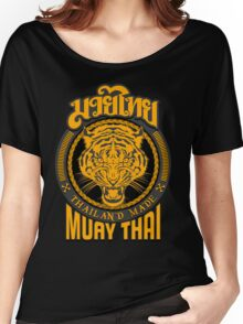 tiger sagat muay thai  thailand martial art logo Women's Relaxed Fit T-Shirt