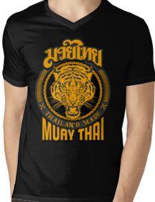tiger sagat muay thai  thailand martial art logo Mens V-Neck T-Shirt
