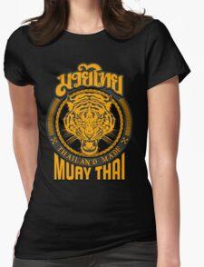 tiger sagat muay thai  thailand martial art logo Womens Fitted T-Shirt
