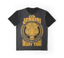 tiger sagat muay thai  thailand martial art logo Graphic T-Shirt