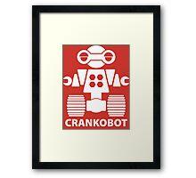 CRANKOBOT (white) Framed Print