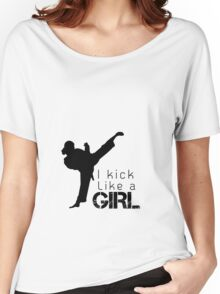 Kick Like a Girl Women's Relaxed Fit T-Shirt