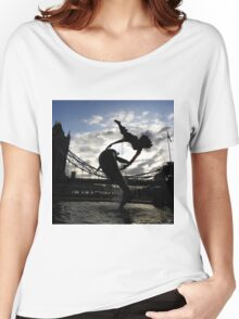 GIRL WITH DOLPHIN Women's Relaxed Fit T-Shirt