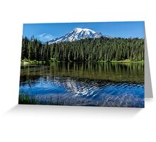 Ripples and Reflection, Mt. Rainier Greeting Card