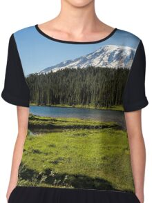 Mt Rainier from Reflection Lake, No. 1 Chiffon Top