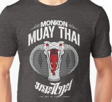monkon muay thai cobra thailand martial art sport logo dark shirt Unisex T-Shirt