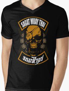 Sagat Muay Thai Fighter  Thailand Martial Art Mens V-Neck T-Shirt