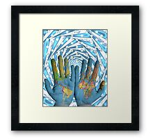 World is In Your Hands Framed Print